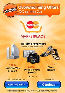MasterCard Marketplace Overwhelming Offers