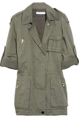 Sandro | Cotton and linen-blend army jacket | NET-A-PORTER.COM 655