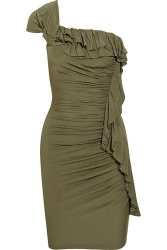 Catherine Malandrino|Ruched one-shoulder jersey dress|NET 345