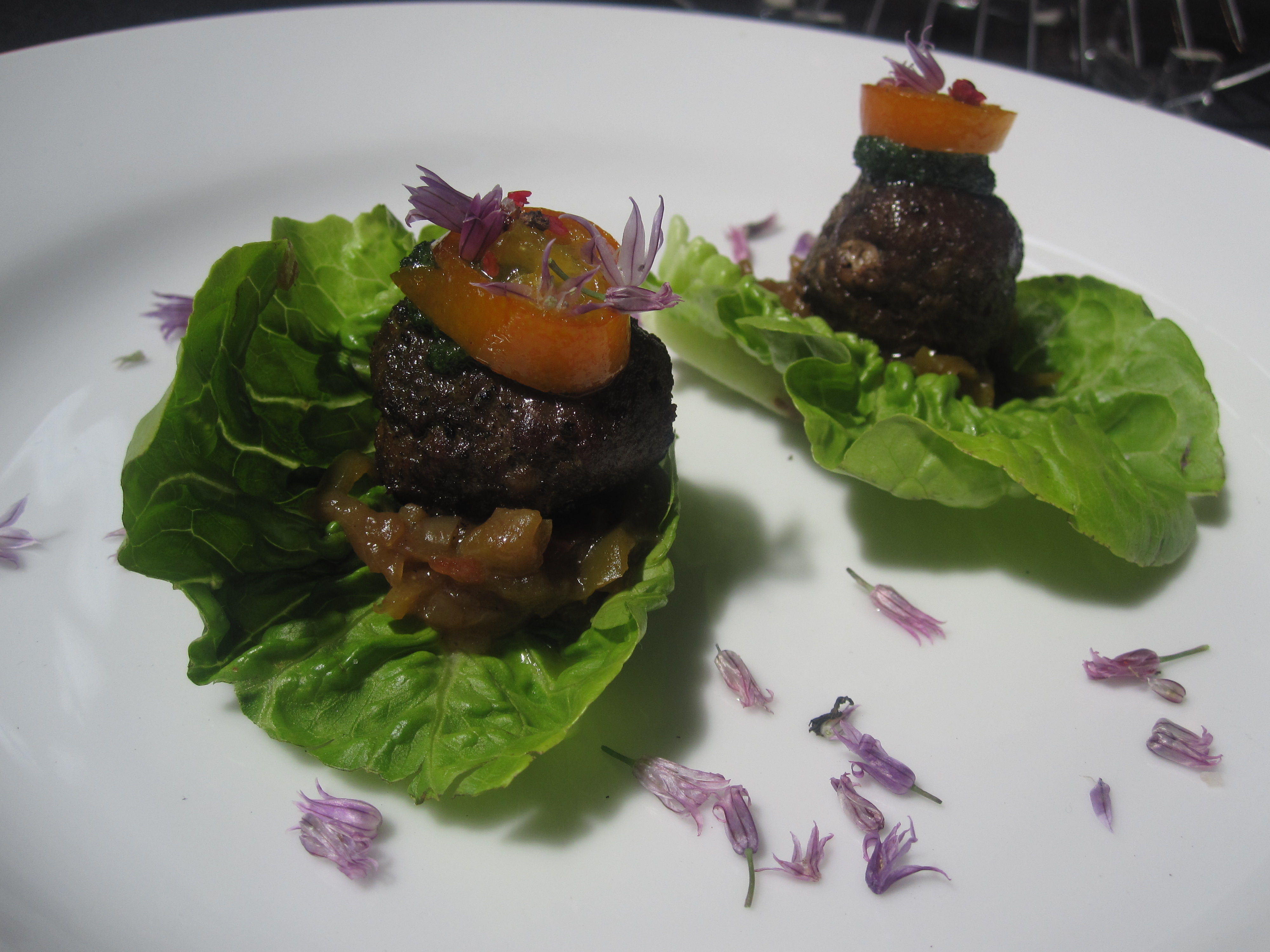These lamb meatball lettuce wraps won me over with their dainty and beautiful presentation.