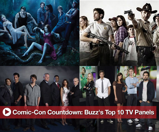 Comic-Con Countdown: Buzz's Top 10 TV Panels