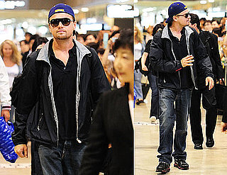 Pictures of Inception's Leonardo DiCaprio Arriving in Japan