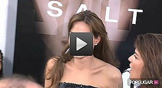 Video: Angelina Cozies Up With Brad, Talks Action Star Status at Salt Premiere!