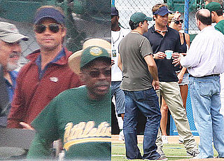 Pictures of Brad Pitt Filming Moneyball