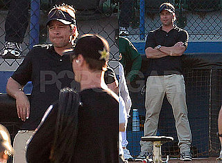 Pictures of Brad Pitt Filming Money Ball