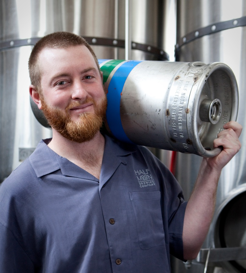Brewmaster Kirk Hillyard was born and raised in Half Moon Bay.  Photo courtesy of Justin Lewis