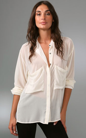 Harlow Long Sleeve Blouse, approx $110, Patterson J. Kincaid from Shopbop