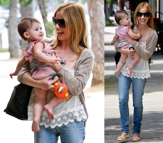 Pictures of Sarah Michelle Gellar and Baby Charlotte