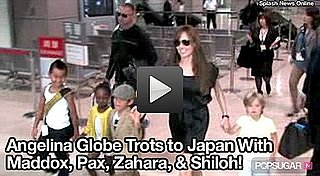 Video of Angelina Jolie in Japan With Her Kids 2010-07-26 10:20:00