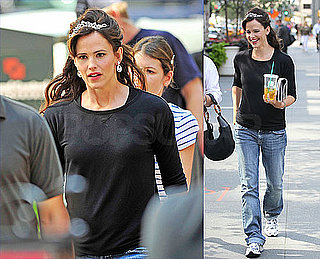 Jennifer Garner Sports a Tiara and Sneakers on the Set of Arthur