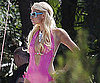 Slide Picture of Paris Hilton Filming Music Video in Pink Bikini