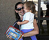 Slide Picture of Jennifer Garner and Seraphina at LAX