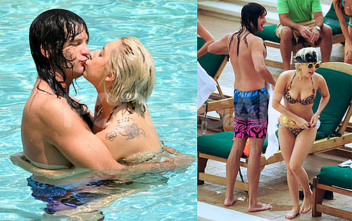 Pictures of Lady Gaga in Her Bikini Kissing Boyfriend Luc Carl