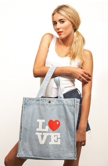 Denim Love Tote, $89 from chip chop!