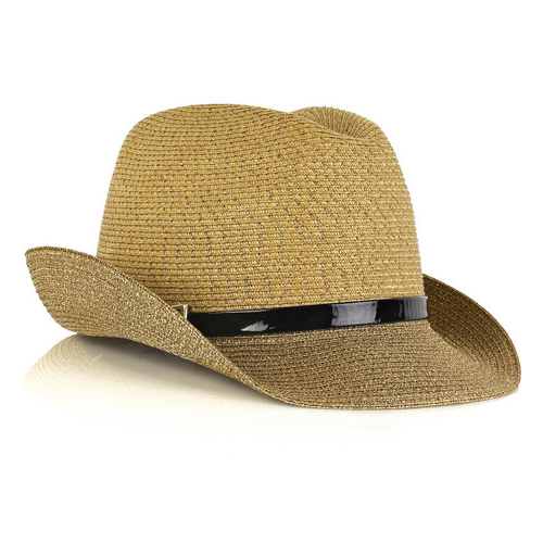 Leather-Trimmed Straw Fedora, approx $133, Eugenia Kim from The Outnet