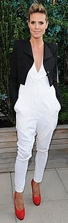 Heidi Klum Wears a White Jumpsuit