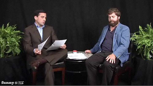 Steve Carell and Zach Galifianakis on Between Two Ferns Video