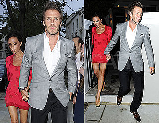 Pictures of David and Victoria Beckham Celebrating Kelly Hoppen's Birthday in London