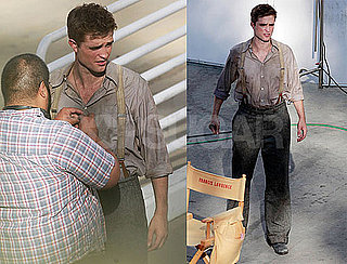 Pictures of Robert Pattinson Filming Water For Elephants in California