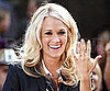 Slide Picture of Carrie Underwood Showing Wedding Band in New York