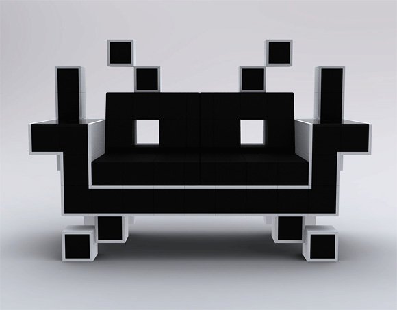 Photos of the Space Invader Couch