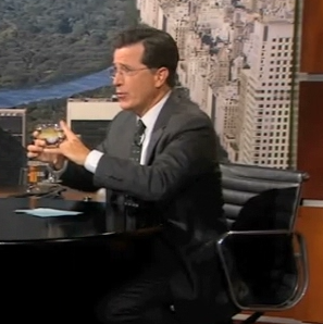 Stephen Colbert Reenacts Real Housewives of New York Video