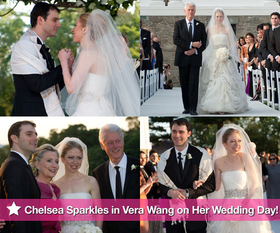 Pics: Chelsea Clinton Sparkles in Vera Wang on Her Wedding Day!