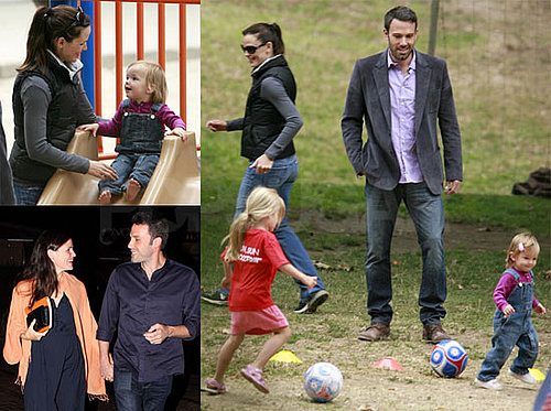 Pictures of Ben Affleck and Jennifer Garner Watching Violet and Seraphina Play Soccer in LA
