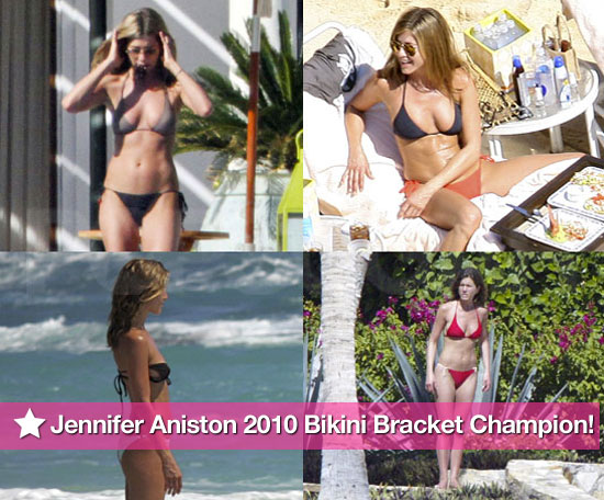 Jennifer Aniston is officially your Bikini Bracket champion!