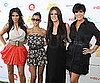 Slide Picture of Kim, Kourtney, and Khloe Kardashian with Kris Jenner at Super Saturday