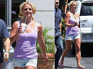 Pictures of Britney Spears Getting Starbucks in LA