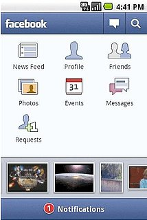 Droid X Apps: Facebook For Android