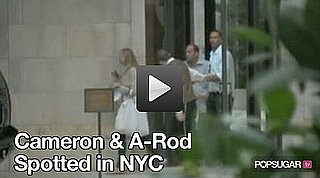 Video of Cameron Diaz and Alex Rodriguez Together On His 600th Home Run Day 2010-08-05 11:51:12