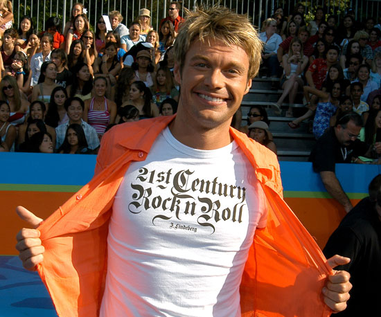 Ryan Seacrest sported a longer 'do in 2003.