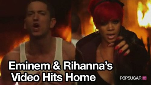 "Eminem and Rihanna Debut Music Video For ""Love the Way You Lie"""