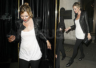 Pictures of Kate Moss Leaving the Woseley in London