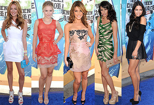 Pictures of Ashley Greene, Cat Deeley, Kristen Bell, Jenna Dewan, Lea Michele and More on 2010 Teen Choice Awards Red Carpet