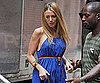 Slide Picture of Blake Lively Leaving Her Trailer on the Set of Gossip Girl in NYC