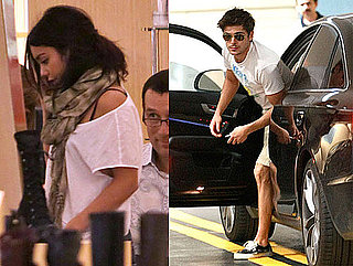 Pictures of Zac Efron and Vanessa Hudgens Doing Their Own Things in LA