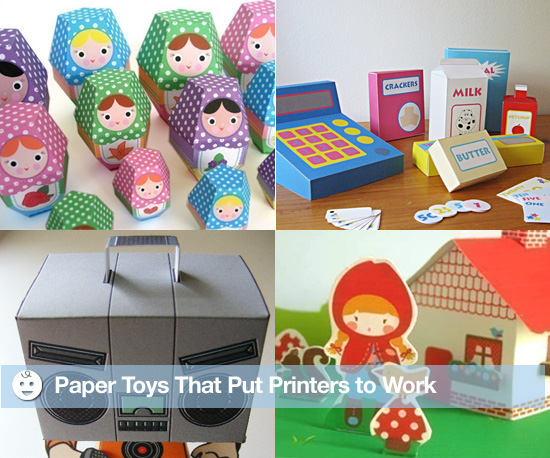 Paper Toys That Put Printers to Work