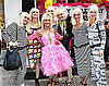 Photos of Betsey Johnson Celebrating 68th Birthday with Lookalikes