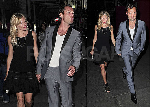 Pictures of Sienna Miller and Jude Law Out to Dinner With Robert Downey Jr. and Susan Downey