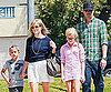 Slide Picture of Reese Witherspoon and Jim Toth With Ava and Deacon at Church