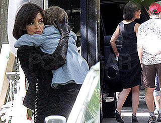 Pictures of Katie Holmes on Set in Toronto For The Kennedys 2010-08-17 14:00:00