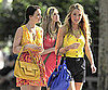 Slide Picture of Blake Lively and Leighton Meester Filming Gossip Girl in New York