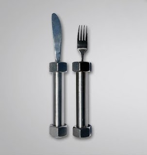 Knife and Fork Lift Weighted Utensils Help You Eat Slower