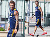 Pictures of David Beckham at the LA Galaxy Soccer Training Center