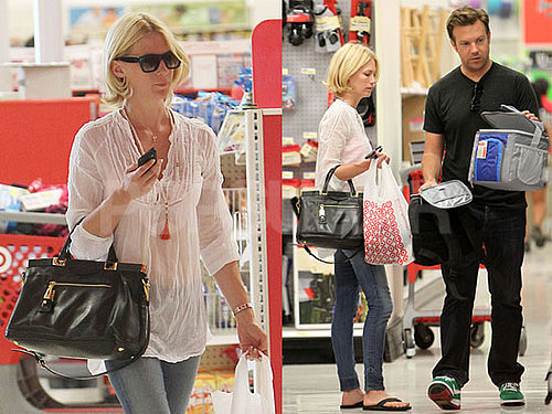 Pictures of January Jones and Jason Sudeikis Shopping Together at Target