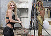 Pictures of Shakira in a Bikini Shooting a New Music Video in Spain