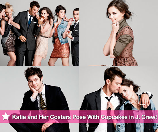 Katie Holmes and Her Costars Sweetly Pose With Cupcakes in J.Crew
